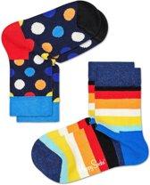 Happy Socks Kids Big Dot & Stripes - Maat 13-21