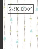 Christmas Trees and Stars pattern Sketchbook: 200 Page Sketchbook: Artist Edition (8.5x11)