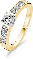 Blush Ring 1144BZI - Dames -  Geel en Wit Goud (14Krt.) met Zirconia