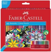Kleurpotlood Faber-Castell Castle zeskantig karton etui met 60 stuks