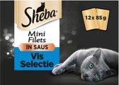 Sheba Multipack Mini Filets Saus Vis 12x85 g