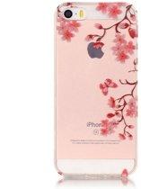 GadgetBay Bloesem TPU iPhone 5 5s SE hoesje cover - Doorzichtig - Bloemtakken - Bloemen