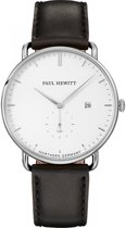 Paul Hewitt Grand Atlantic Line PH-TGA-S-W-2M - Horloge - Leer - Zwart - Ø42mm