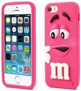 Siliconen M&M telefoonhoesje iPhone 5 / 5S / SE