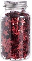 Rode sterren confetti in flesje