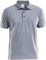 Craft Polo Shirt Pique Classic Heren Grijs maat XL
