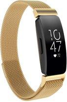 KELERINO. Milanees bandje voor Fitbit Inspire (HR) - Goud- Small