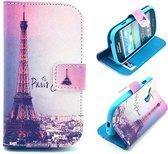 iCarer Eiffel tower print wallet case hoesje Samsung Galaxy S3 mini