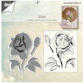Joy! crafts - Die met clearstamp - Roos - 6004/0026