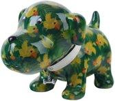Pomme Pidou spaarpot hond Bruno - Uitvoering - Groen met papegaaien