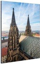Twee Torens in Praag Aluminium 40x60 cm - Foto print op Aluminium (metaal wanddecoratie)