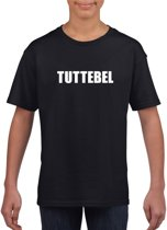 Tuttebel tekst t-shirt zwart meisjes M (134-140)
