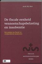 Fiscaal-wetenschappelijke reeks 12 - De fiscale eenheid vennootschapsbelasting en insolventie