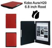 Slimfit cover voor Kobo Aura H20 6,8 inch rood beschermhoes / Kobo Aura H2O slimfit hoes / case