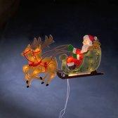 Konstsmide - Silhouet rendier kerstman 230V 20x - warmwit