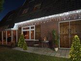 CBD ICICLE LIGHTS 360L/720X60CM LED WIT - 5M AANLOOPSNOER TRANSPARANT - BI-BUI TRAFO TIMER 8/16U
