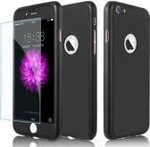 Full Body Slim Fit 360 graden Lichtgewicht harde beschermende huid hoesje Case voor iPhone 7 4.7    Zwart