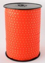 Krullint met Stippen Oranje 10 mm x 225 mtr (1 rol)