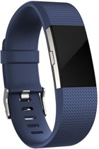 SmartphoneClip Siliconen bandje - Fitbit Charge 2 - blauw - S/M