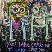 Poul Pava - Doek Take care - 120x120 cm
