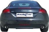 InoXcar 100% RVS Dubbele Sportlaat Audi TT 2.0 TFSi (200pk) 2006- Links/Rechts 120x80 Oblique
