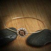Biggdesign Scorpio Zodiac zilveren armband voor dames | Messing verguld | Zirkoonsteen met 12 planeten | Speciale sieraden voor Zodiac | Verjaardagscadeau | Speciaal ontwerp | 925 sterling zilver