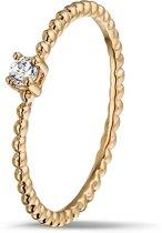 Montebello Ring Pereskia - Dames - 925 Zilver - Zirkonia - Maat 58 - 18.5