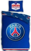 Paris Saint Germain Logo - Dekbedovertrek - Eenpersoons - 140 x 200 cm - Blauw