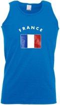 Blauw heren singlet Frankrijk M