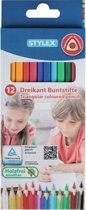 Stylex Kleurpotloden - Driekant - 12 stuks