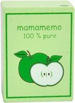 Mama Memo Pakje Appelsap Hout 6 Cm Groen