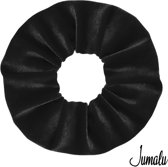 Jumalu scrunchie velvet haarwokkel haarelastiekjes - zwart - 1 stuk