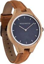 De officiële WoodWatch   Blue Ocean Amber   Houten horloge dames