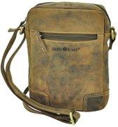 GreenBerry Kleine schoudertas van bruin vintage leer - Utah