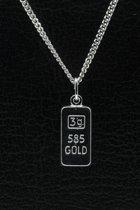 Zilveren Goudkleurige ketting hanger