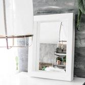 Spiegel Vurenhout Wit M | Spiegel Handgemaakt 80 x 60 cm