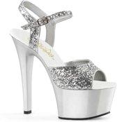 EU 35 = US 5   ASPIRE-609G   6 Heel, 2 1/4 PF Glitter Ankle Strap Sandal