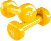 TecTake - set van 2 halters , 2 x 1,0 kilogram - geel - 402357