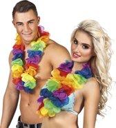 36 stuks: Hawaikrans Rainbow XL