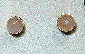 zilveren oorknopjes met rozenkwarts 0.3 cm