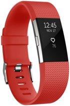 Eyzo Siliconen bandje - Fitbit Charge 2 - Rood - Large