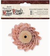 1 meter Pleated Fabric Trim  - Madame Payraud - Pink