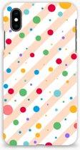 Apple iPhone Xs Max Hardcase Hoesje Design Dots