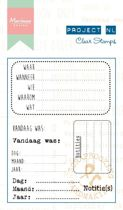 Clear Stamps Project NL Notities