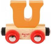 Bigjigs - Rails - Naamtrein - Letter U - Oranje