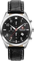 SWISS MILITARY HANOWA Helvetus horloge  - Zwart