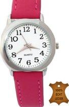 Horloge Midden roze- 27 mm- Genuine Leatherbandje