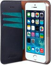 Melkco Italian Cowhide Apple iPhone 5 / 5S / SE Book Case Blauw