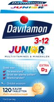 Davitamon Junior 3+ Kauwvitamines - kinder multivitamine - multifruit - 120 tabletten