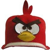 """sauna muts """"Angry bird"""" wolvilt A-162 sauna vilten hoed"""